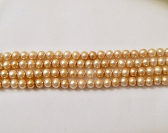 6mm Lt Gold Pearls Freshwater
