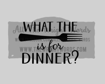 "FREE SHIPPING //  6x4"" What The Fork Is For Dinner? Vinyl Decal - Pressure Cooker Decal - IP - Decal  - Cooking - Home - Kitchen"