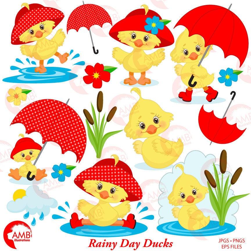 Duck Clipart Umbrella Clipart Spring Clipart April Showers