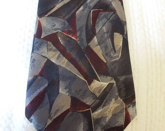 Geoffrey Beene, 100% silk necktie, made in the USA, men's accessory, prof. cleaned/pressed,