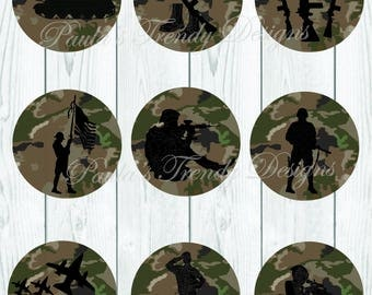 Military Camo Embellishments - INSTANT DIGITAL DOWNLOAD