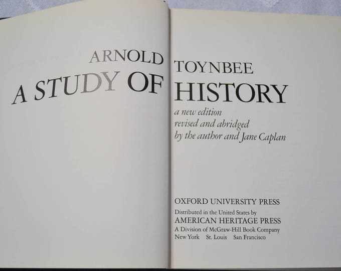 A Study of History Hardcover Vintage Book Arnold Toynbee 1972 Art History Textbook Color and Black White Illustrations Photos PanchosPorch