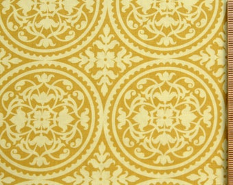 Joel Dewberry fabric Ironwork JD11 Lichen Gold Cream Circles 100% Cotton Free Spirit Sewing Quilting cotton fabric by the yard