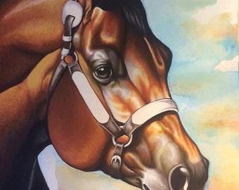Custom Mixed Media Traditional Painting 12X16