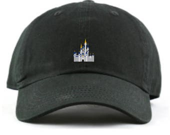 Disney World Castle Dad hat, Disney World Castle baseball hat,  Cinderella's Castle, Cinderella Castle Hat, Disney Dad Hat