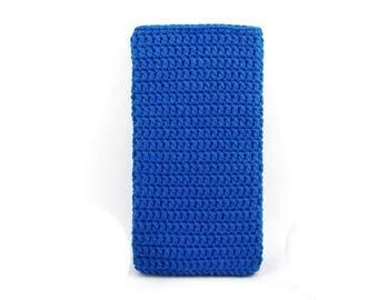 Royal Blue Samsung Galaxy S7 sleeve, OnePlus X sock, eco BlackBerry Keyone cover, vegan HTC 10 pouch, Google Pixel cozy, Moto G5 plus case
