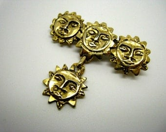 Golden Suns, vintage 80 pin