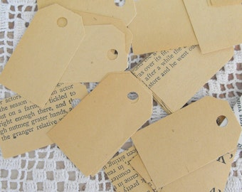 Medium Tags Made From Vintage Book Paper
