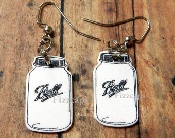 Handcrafted Mason Jar Earrings Jewelry