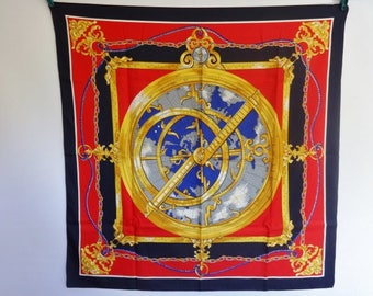 "Vintage Nautical compass rope scarf 77cm x 78cm / 30.3"" x 30.7"""