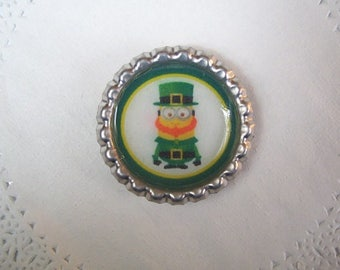 Minion Magnet (723) - St Patrick's Day Minion Refrigerator Magnet - Saint Patrick's Day magnet - Minion accessories