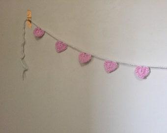 Large Pink Heart Garland