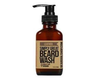 Beard Wash - LEATHER - by Simply Great