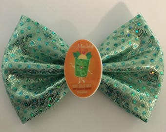 Disneyland Miss Mint Julip Handmade Mint Sparkle Hair Bow