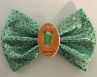 SALE! Disneyland Miss Mint Julip Handmade Mint Sparkle Hair Bow