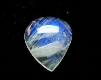 Pear Rainbow Moonstone Cabochon Gemstone 22x19x7 mm 20.15 Carat