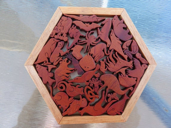 Wood animal puzzles