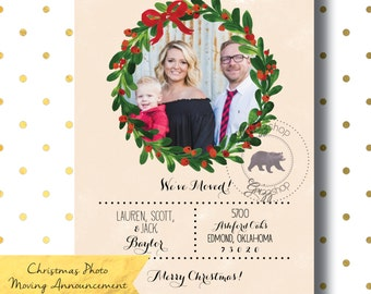 Christmas Photo Moving Announcement