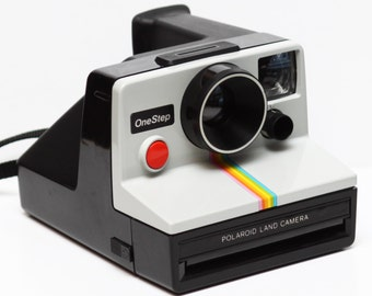 Classic Polaroid OneStep One Step Rainbow Instant SX-70 Film Land Camera Made in USA 1970s Fully Operational