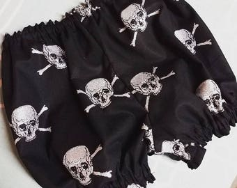 Baby Punk Bloomers~ Skull diaper covers