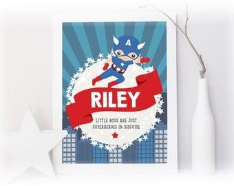 Personalised Superhero Print