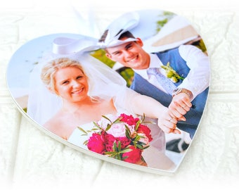 Photo Heart Plaque Personalised With Your Own Photo