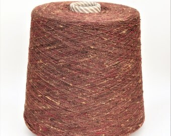 100% Shantung jaspé tussah silk yarn on cone, per 100g