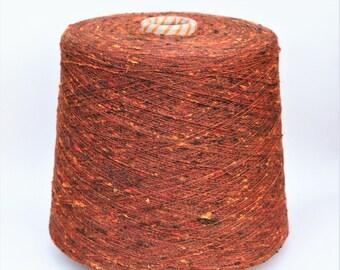 100% Shantung jaspé tussah silk yarn on cone, 1kg cone