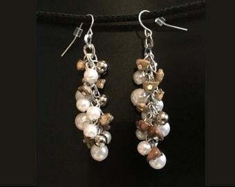Neutral Cluster Earrings
