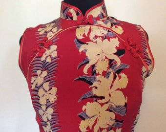 Vintage Avanti Hawaiian Dress - Med