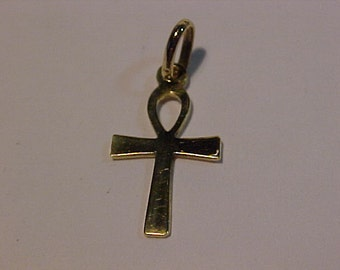 14k yellow gold cute cross/bail -Will ship to the continental USA or Canada