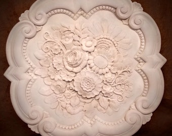 Victorian Roses and flowers ceiling medallion