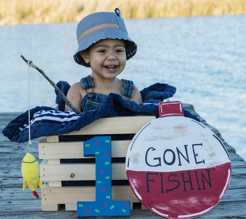 Gone Fishing Signs Decor: Gone Fishing Sign Fishing Bobber Sign Fish Birthday Sign