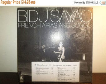 Save 30% Today Vintage 1976 Vinyl LP Opera Record French Arias and Songs Bidu Sayao Promotional Copy Excellent Condition 7859