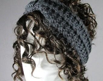 Knitted headband  , Earwarmer, Head Band, Chunky headband, winter headband,   Stretchy Headband, brown , taupe