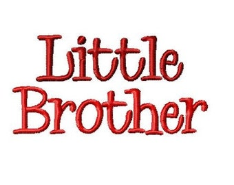 Little Brother Embroidery Design  -INSTANT DOWNLOAD-