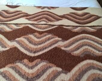 "Vintage Mid-Centuries  Dutch sheeop wool blanket Eurocover  98,4"" inch / 96,5""inch"
