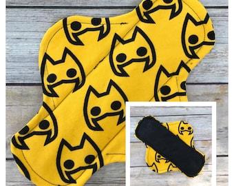 "9"" Flannel Batman Cloth Menstrual Pad - Mama Cloth."