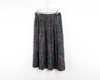 Paisley Pendleton Maxi Skirt