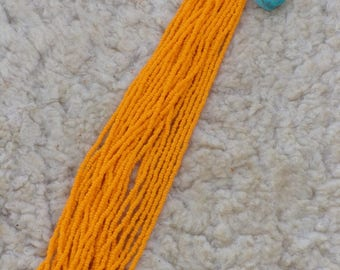 orange seed beads ,  size 11 light orange beads , bead craft supplies,
