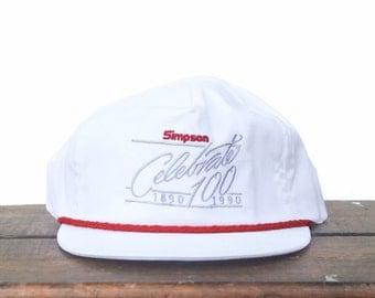Vintage Simpson Brosco Doors Celebrate 100 Years 1890 1990 Trucker Hat Snapback Baseball Cap Made In USA