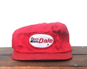Vintage Red Dale Campers Trailers Camping Trucker Hat Snapback Baseball Cap