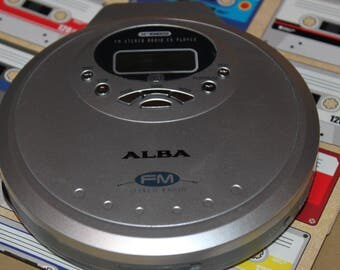SALE  Alba Personal CD Player with Radio Tuner. Model X BBS