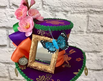 Alice Through The Looking Glass Hat, Mad Hatter Mini Top Hat
