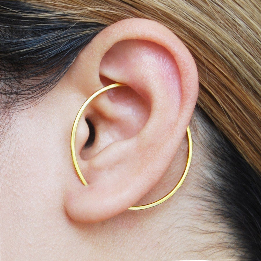 Modern Gold Earring Gold Ear Cuff Ear Cuffs Geometric