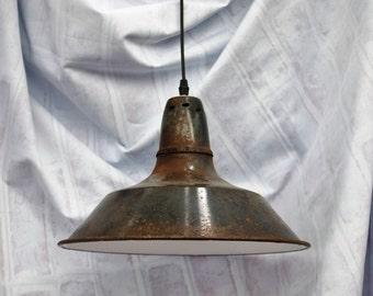 Factory Ceiling Pendants - Genuine Original - Vintage Lighting