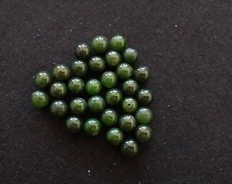 Vintage Green Jade 10mm Rounds