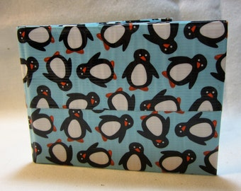 FREE SHIPPING! Duct Tape, Wallet, Bi-Fold, Super Cute, Hand Crafted, Great Gift Idea for any Penguin Lover!