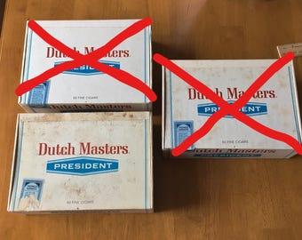 "Vintage 1970's Dutch Masters ""President"" Cigar Box(es), Vtg Storage Box, Vtg Craft Box, Vtg Cigar Box"