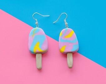 Rainbow Paddle Pop Earrings - Regular or Large